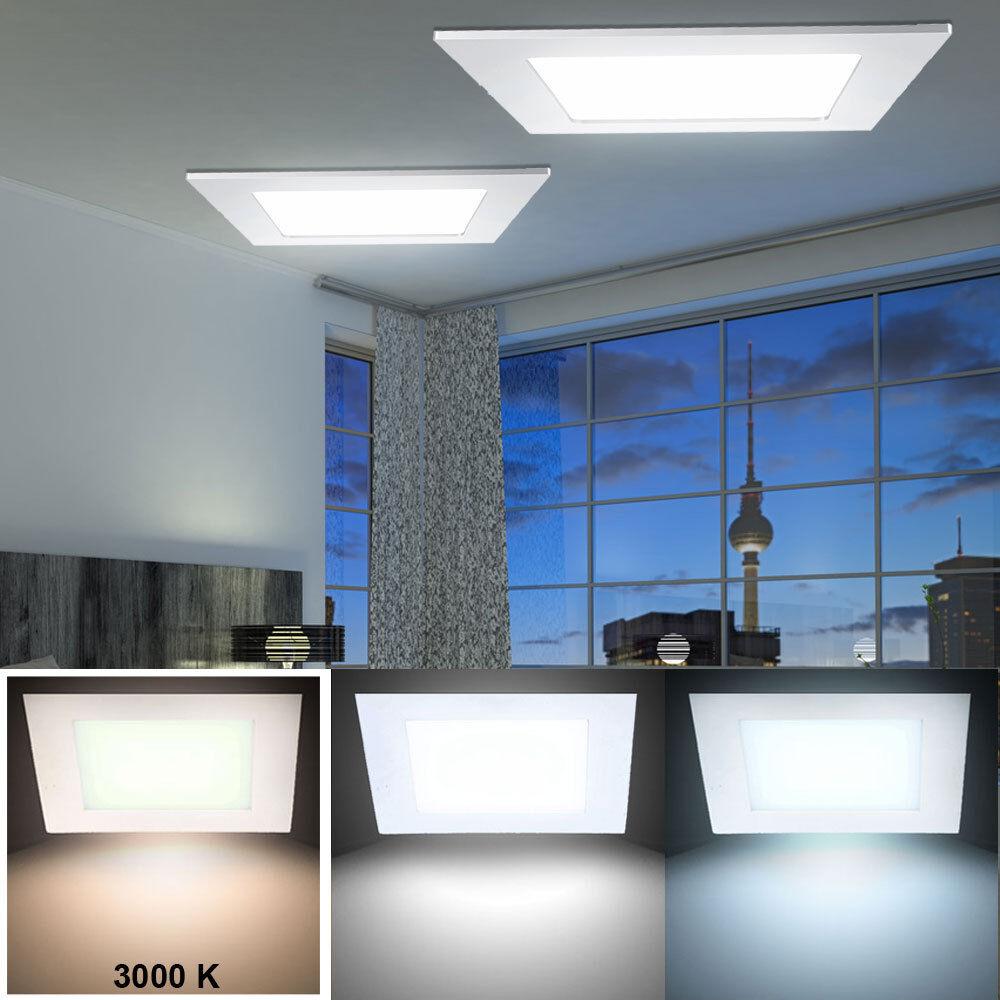 Ensemble de panneau de LED 2 24W encastré plafonniers éclairage de cuisine ALU