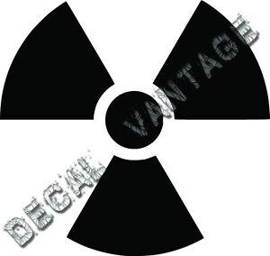 pick size color Radioactive Symbol Radiation Decal Sticker Car Vinyl die cut