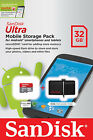 SanDisk Ultra Mobile Storage Device With 32 GB 32g Micro SD Card and USB Drive