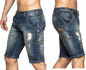 5d5b7eaeb5d3 Das Bild wird geladen One-Public-OneP-Jeans-Short-Bermuda-Vintage-Used-