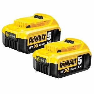 2XNEWDEWALT-18V-5-0Ah-XR-for-DCB184-DCB184-XE-90Wh-LI-Ion-BATTERY-PACK