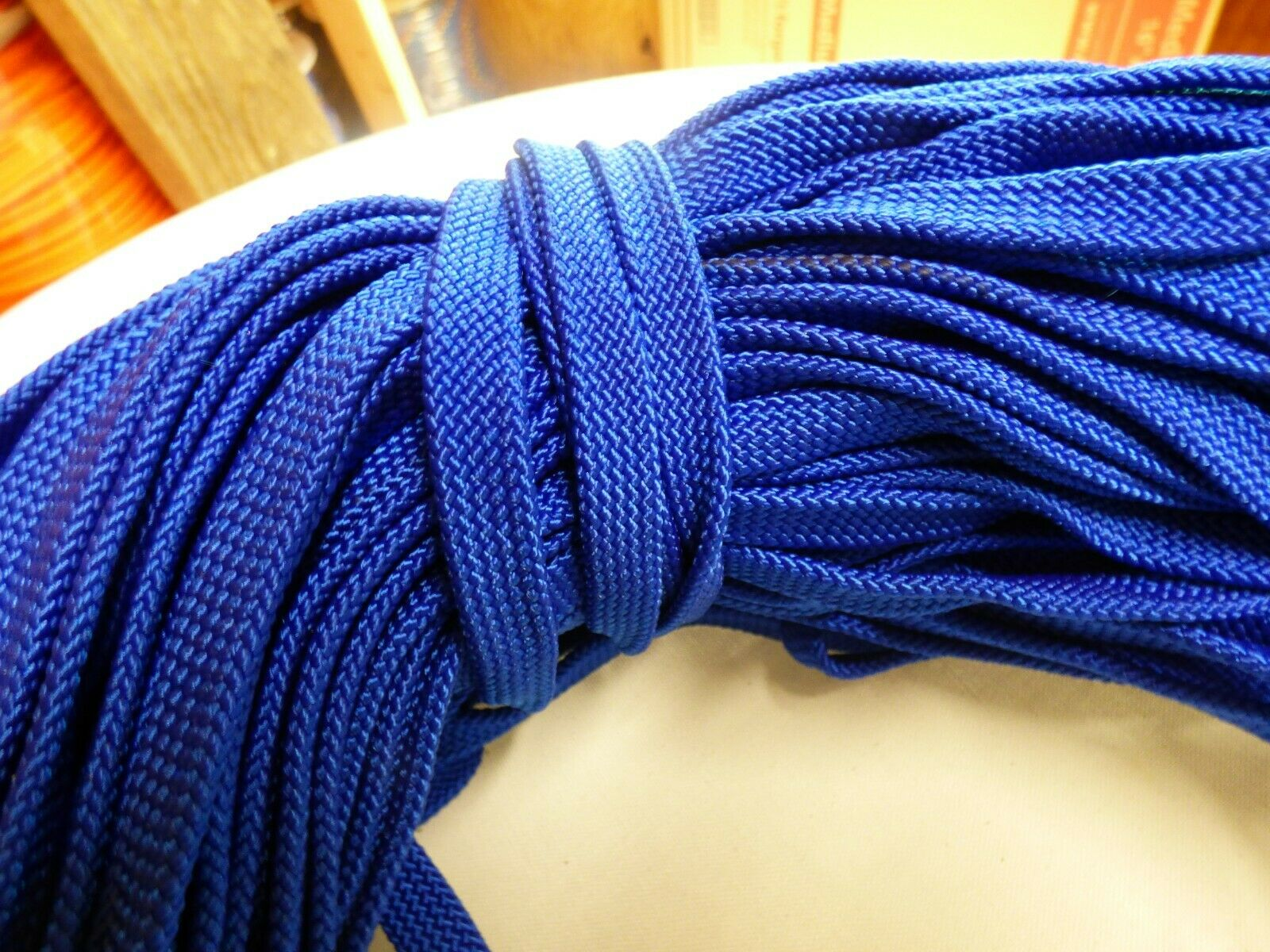 7 16 x 146 ft.  Hollow  Flat Braid Nylon Rope Hank.Discounted. Made in USA  buy 100% authentic quality