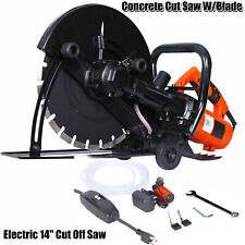 Electric 14 Cut Off Saw Wetdry Concrete Saw Cutter Guide Roller Withwater Tube