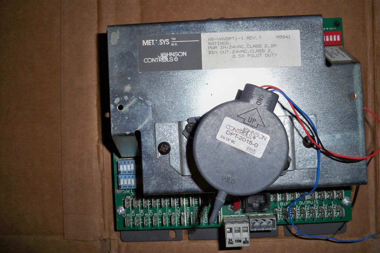 JOHNSON CONTROLS Variable air volume controller AS-VAV-DPT1-1 Rev. J