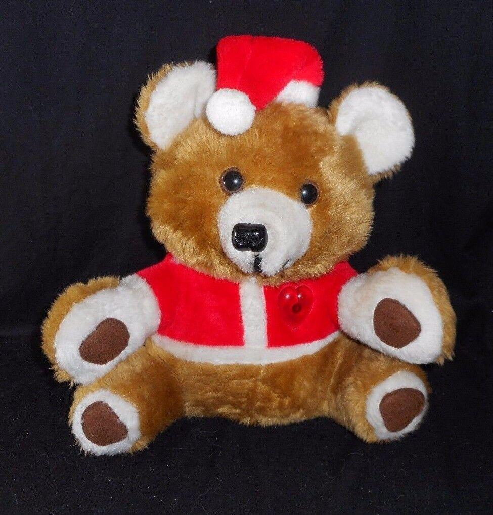 Vintage Noble Kunst Weihnachten Plüschtier Teddybär Musical Leuchtend Plüsch