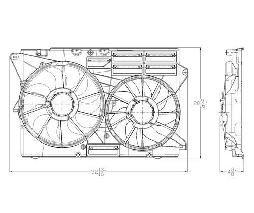 Dual Radiator and Condenser Fan Assembly-Turbo TYC fits 2016 Ford Explorer