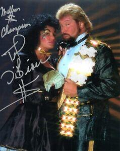 MILLION-DOLLAR-MAN-TED-DIBIASE-SIGNED-PHOTO-WWF-WWE-WRESTLING-STAR-WITH-SHERRI