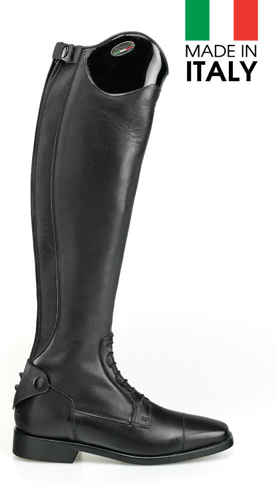 Brogini Superior Leather Arezzo Riding  Boots - Handmade in  - patent top