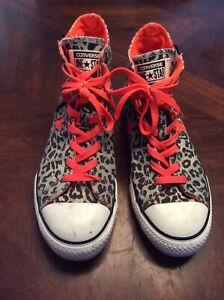converse high tops leopard print