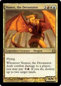 NUMOT-THE-DEVASTATOR-Commander-2011-MTG-Gold-Creature-Dragon-RARE