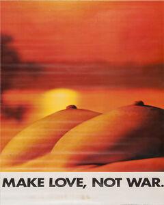 Impartial Make Love Not War Vintage Enamel Metal Tin Sign Wall Plaque