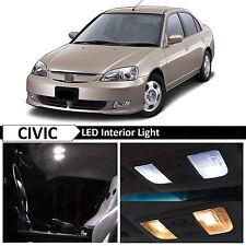 White Interior LED Light Package Kit 2001-2005 Honda Civic Sedan Coupe + TOOL
