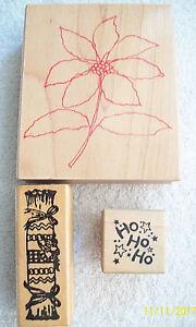 Rubber-Stamp-Christmas-HERO-Arts-Poinsettia-Cracker-PSX-Ho-Ho-Ho-C27