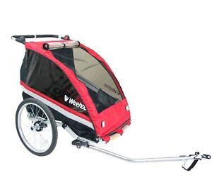 NEW-Weehoo-Igo-WEGO-Trail-Add-A-Bike-Cycle-TRAILER-JOGGER-STROLLER