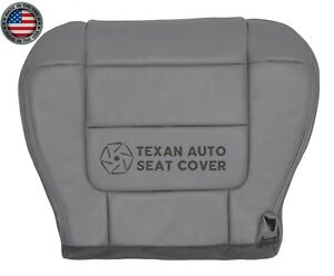 2001-Ford-F150-Lariat-Super-Crew-Driver-Side-Bottom-Leather-Seat-Cover-Gray