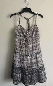 American-Eagle-Outfitters-Women-039-s-Polyester-Paisley-Dress-Size-10-Sleeveless