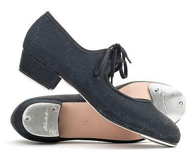 schwarz Glitzer NIEDRIGE ABSATZ, Stepptanz Schuhe Tanzen von Katz Weihnachten