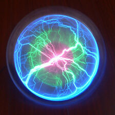 "NEW 8"" Rainbow PLASMA PLATE Lumin Disk Disco Party Light Show Respond to Music"