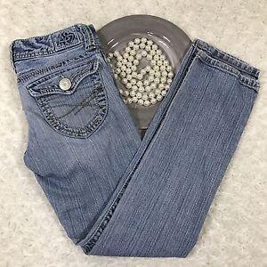 Aeropostale-Womens-Bayla-Skinny-Jeans-Size-00-Short-Stretch-Blue-Denim-GQ442