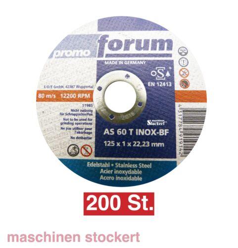 200 Trennscheiben 125x1mm VA Dünnblechscheibe Winkelschleiferscheibe Forum