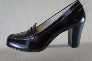 Michael-Kors-039-Bayville-039-Loafer-Pump-Dark-Burgundy-Patent-Leather-Size-9M