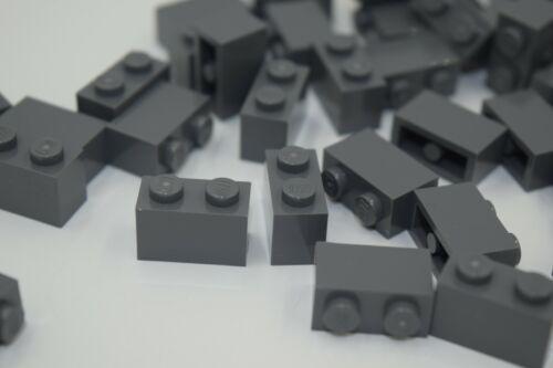 50 NEW LEGO 1x2 DARK STONE GREY BRICKS bulk lot blocks modular 3004 gray wall