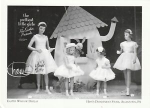 Postcard-034-Easter-Window-Display-034-1950-039-s-Hess-039-s-Allentown-Pa-See-Desc-A10-2