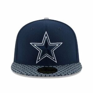8c1da226c828ce New Era Dallas Cowboys SIZE 7 3/8 Fitted Cap Navy Sideline Official ...
