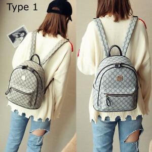 Women-Designer-Printing-Leather-Backpack-Mini-Back-Pack-Girl-Shoulder-School-Bag