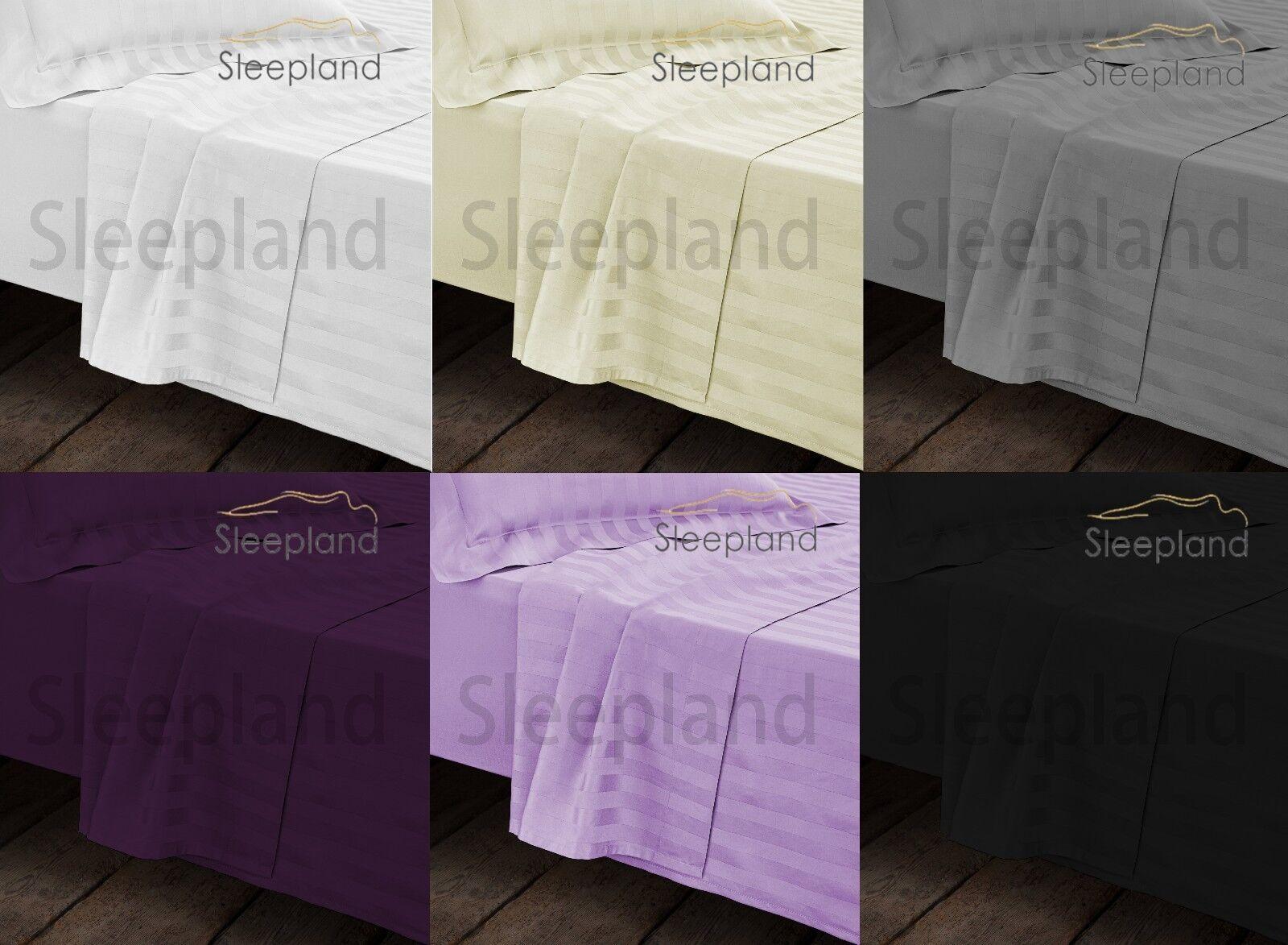 Egyptian Cotton 1000TC KING Fitted Sheet & Flat Sheet & 2 Pillowcase Bedding Set