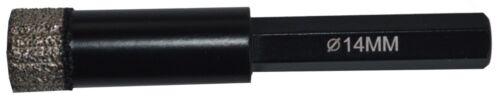 Fliesenbohrer mit Kühlwachs Anbohrhilfe Diamantbohrer 6-Kant Keramikbohrer