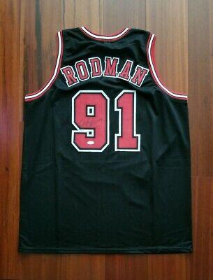 finest selection 1f3c8 a1087 Dennis Rodman Autographed Signed Jersey Chicago Bulls JSA   eBay