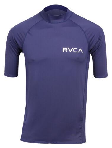 RVCA Mens VA Sport Solid Short Sleeve Compression Shirt Navy Blue