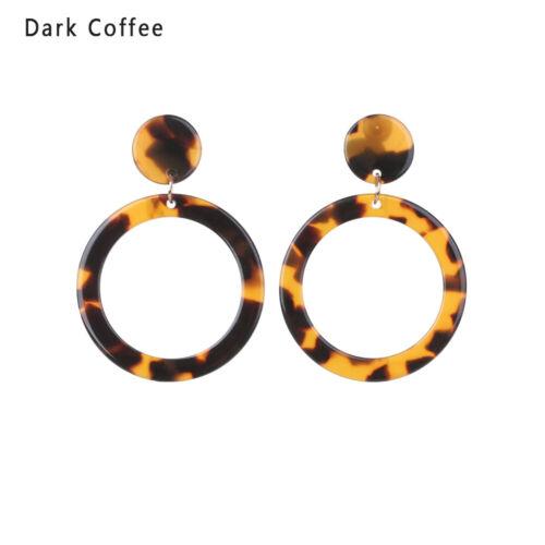 stud oido Pendientes de leopardo Dangle Drop Earrings Personalidad Acetato