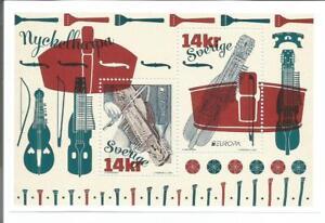 Schweden-Europa-CEPT-2014-Musikinstrumente-Block-postfrisch