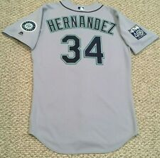 FELIX HERNANDEZ #34 2017 Seattle Mariners game used jersey road gray 40TH MLB