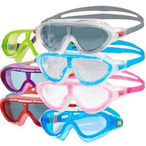 b94573709252 Speedo Rift Kids Swimming Goggles Mask Anti-fog Lens Junior Age 6-14 ...