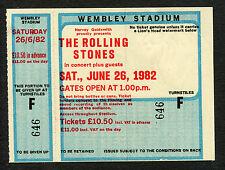 1982 Rolling Stones J Geils unused full concert ticket Wembley London Tattoo You