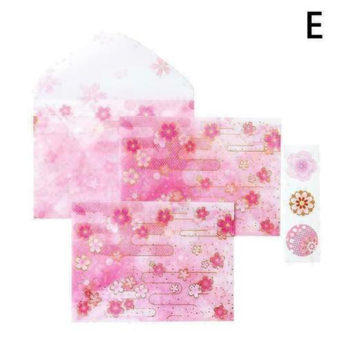 Schöner Blumenreiher Briefset Umschlag Set 3 Umschläge Siegelaufkleber 3 M3 A6O9