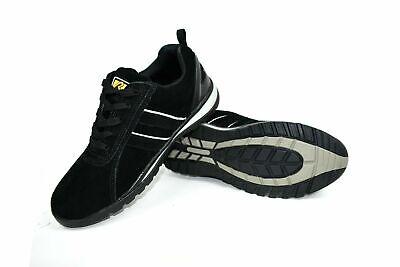 Mens Steel Toe Cap Boots Bartium Leather Steel Safety Work Boots Black Hi Vis