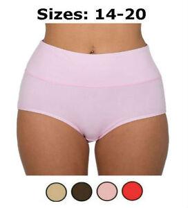 2x-Women-039-s-Bamboo-Fibre-Brief-Extra-Tummy-Support-Control-Underwear-Sizes-14-20