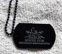 Captain Morgan Black Spiced Rum Dog Tag Necklace Metal