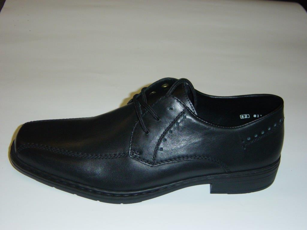 Rieker Halbschuhe 40 Business-Schuhe   schwarz   Glattleder   Größe 40 Halbschuhe 44 45 46 14cbdb