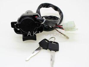 Ignition Switch Lock KEY For KAWASAKI ZX6R ZZR600 ZZR400 ZX-6 ZX6