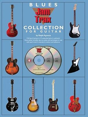 Blues Jam Trax Collection for Guitar Book 2-CD Pack Book and CD NEW 014037686