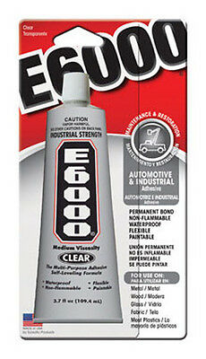 New E-6000 Automotive And Industrial Adhesive 3.7 Oz 230022 A Plastic Case Is Compartmentalized For Safe Storage