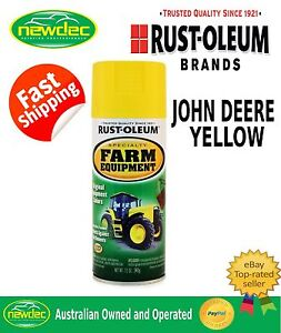 rust oleum john deere yellow farm equipment spray paint. Black Bedroom Furniture Sets. Home Design Ideas