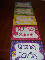 5 Laminated Candy Themed Behavior Clip Chart Cards. Classroom Accessories.