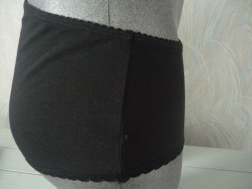 ladies black cotton knickers 8 to 14 last 4 pairs high street store