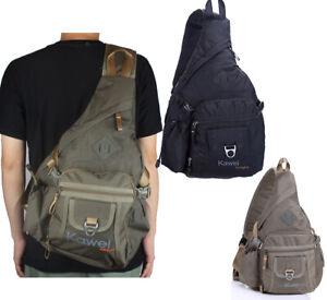 Men Women Large Sling Bag Backpack Chest Shoulder Pack School Shoulder Bag Kawei